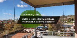 Read more about the article Zašto je jesen idealna prilika za ostakljivanje balkona ili terase?
